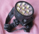 Salah satu model lampu kepala (headlamp) yang cocok untuk modifikasi lampu LED di sepeda onthel