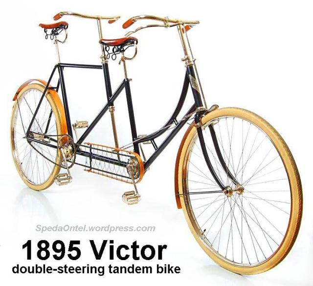 1895 Victor double-steering tandem bike