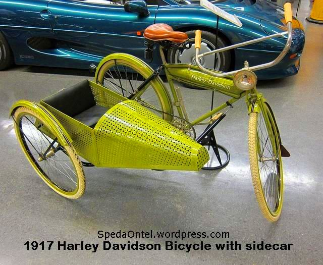 917 Harley Davidson Bicycle with sidecar