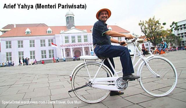 Arief Yahya, Menteri Pariwisata naik onthel