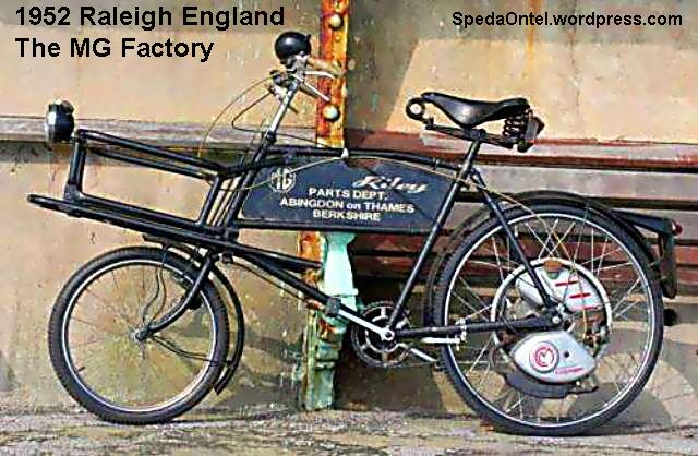1952  - Schönes Raleigh Lastenrad England - The MG Factory