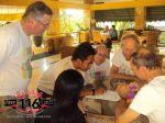 Berdiskusi dengan sekjen KOSTI di Hotel Kediri