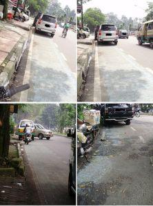 Jalur sepeda di Jakarta, menyedihkan