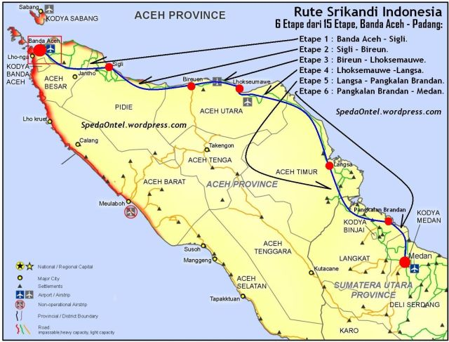 rute srikandi indonesia dowes aceh - padang 2013 - 01