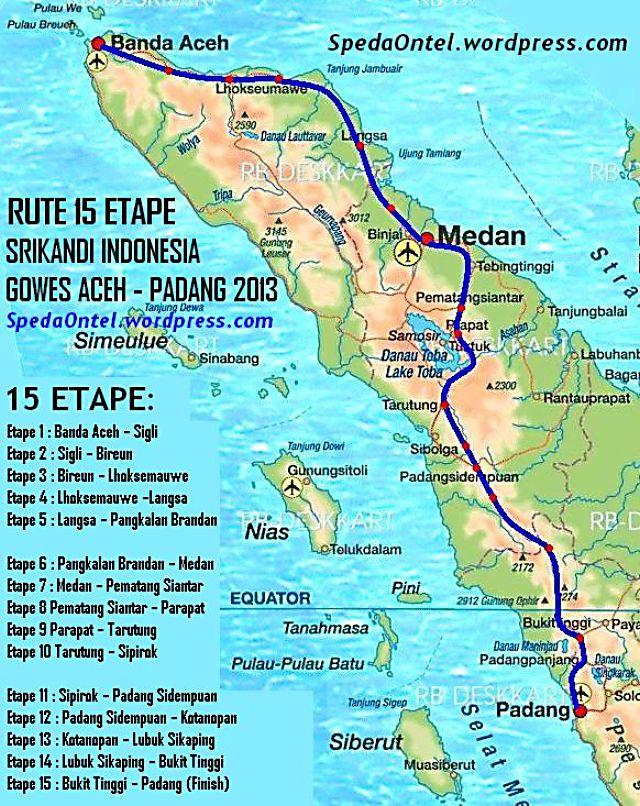 rute srikandi indonesia gowes aceh - padang 2013 00 -