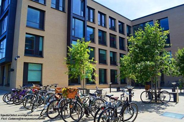 Sepeda Ontel di salah satu gedung perkuliahan di Universitas Cambridge (Pict: Cakson@kompasiana.com)