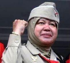 Risma, Walikota Surabaya.