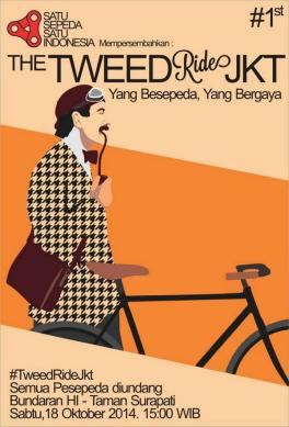 tweed ride Jakarta 2014 poster