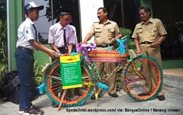 sepeda onrthel untuk guru sidoarjo 2
